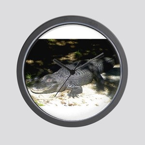 Alligator Sunbathing Wall Clock